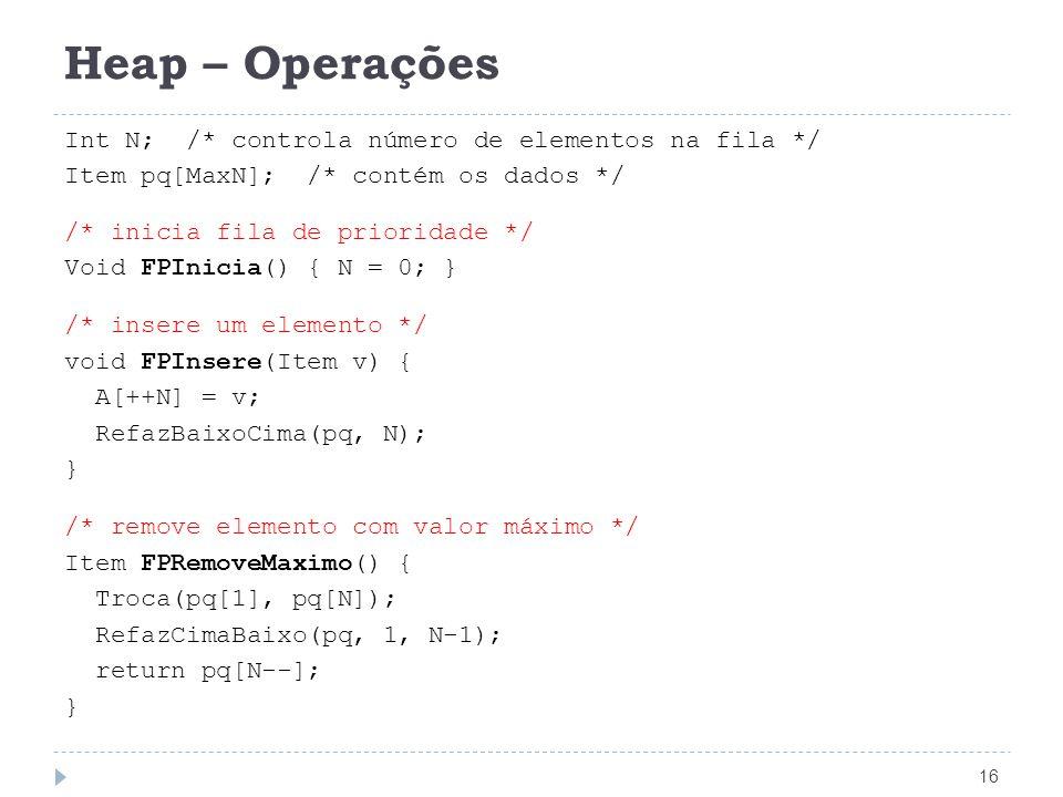 Heap – Operações
