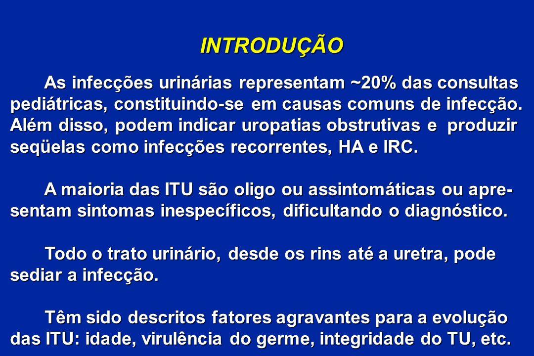 INTRODUÇÃO As infecções urinárias representam ~20% das consultas