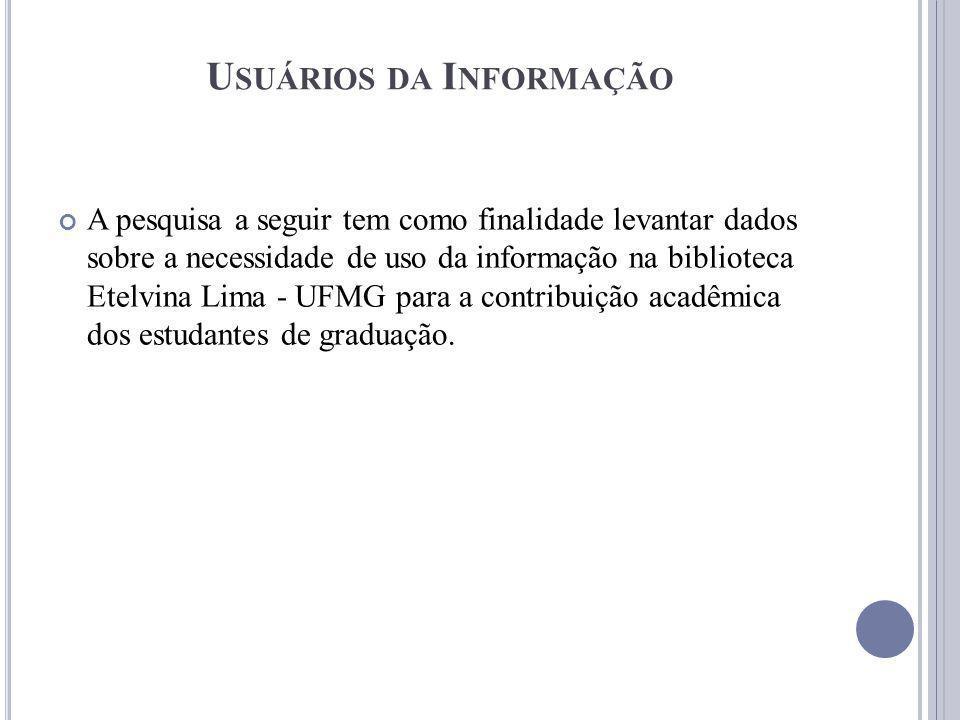 Usuários da Informação