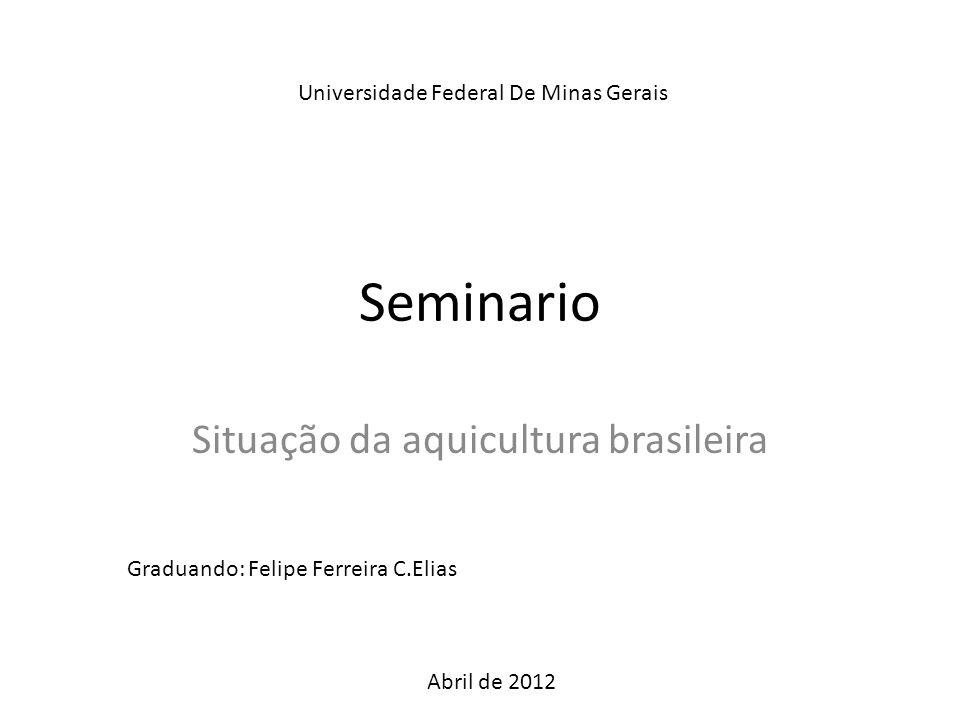Situação da aquicultura brasileira