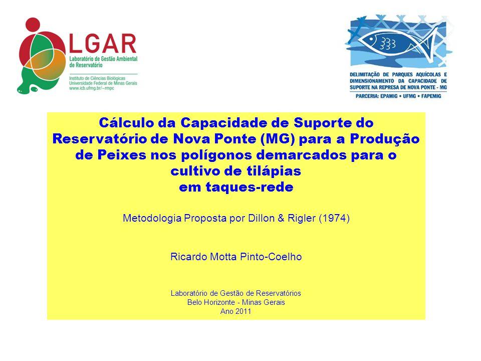 Cálculo da Capacidade de Suporte do Reservatório de Nova Ponte (MG) para a Produção de Peixes nos polígonos demarcados para o cultivo de tilápias