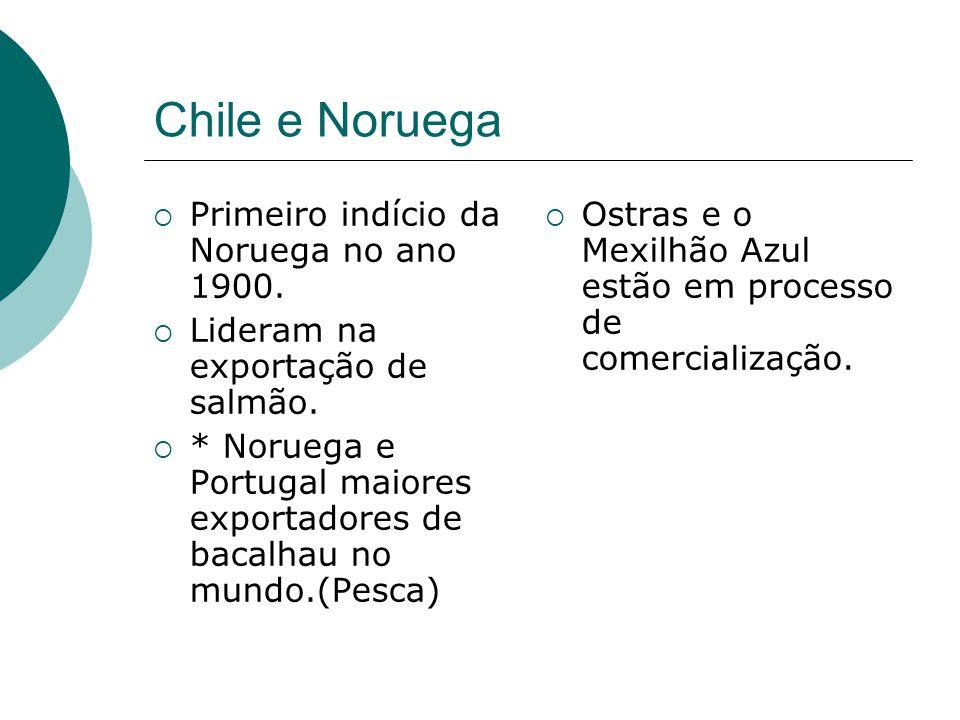 Chile e Noruega Primeiro indício da Noruega no ano 1900.