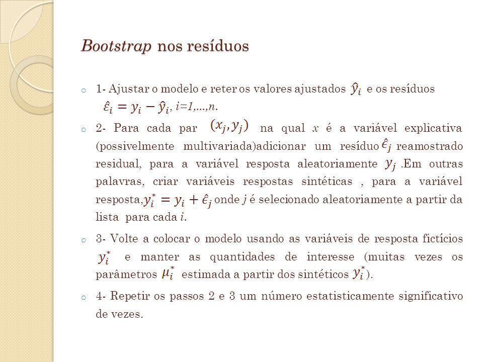 Bootstrap nos resíduos