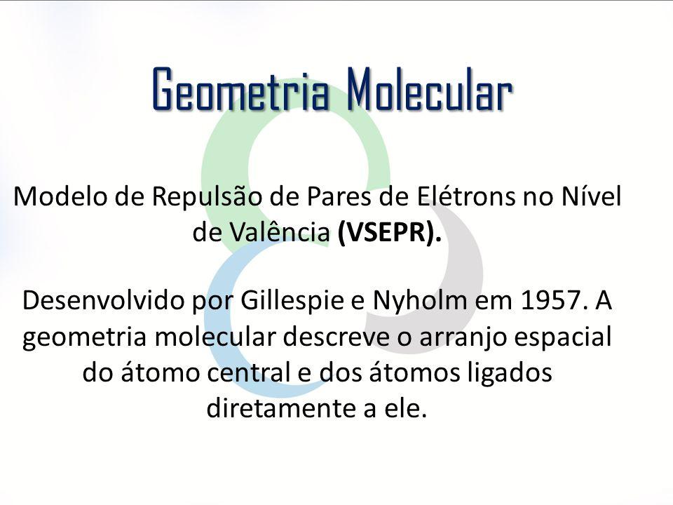 Modelo de Repulsão de Pares de Elétrons no Nível de Valência (VSEPR).