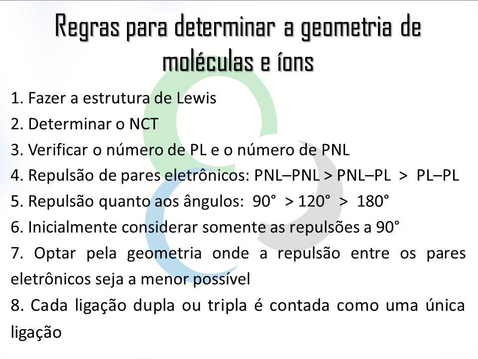 Regras para determinar a geometria de moléculas e íons