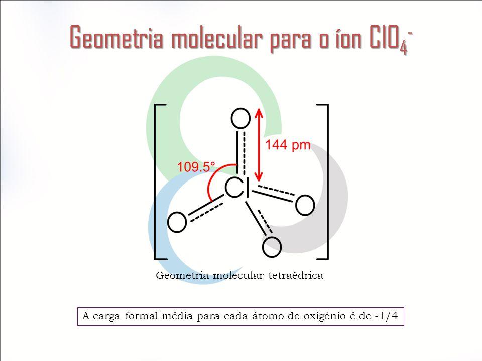 Geometria molecular para o íon ClO4-