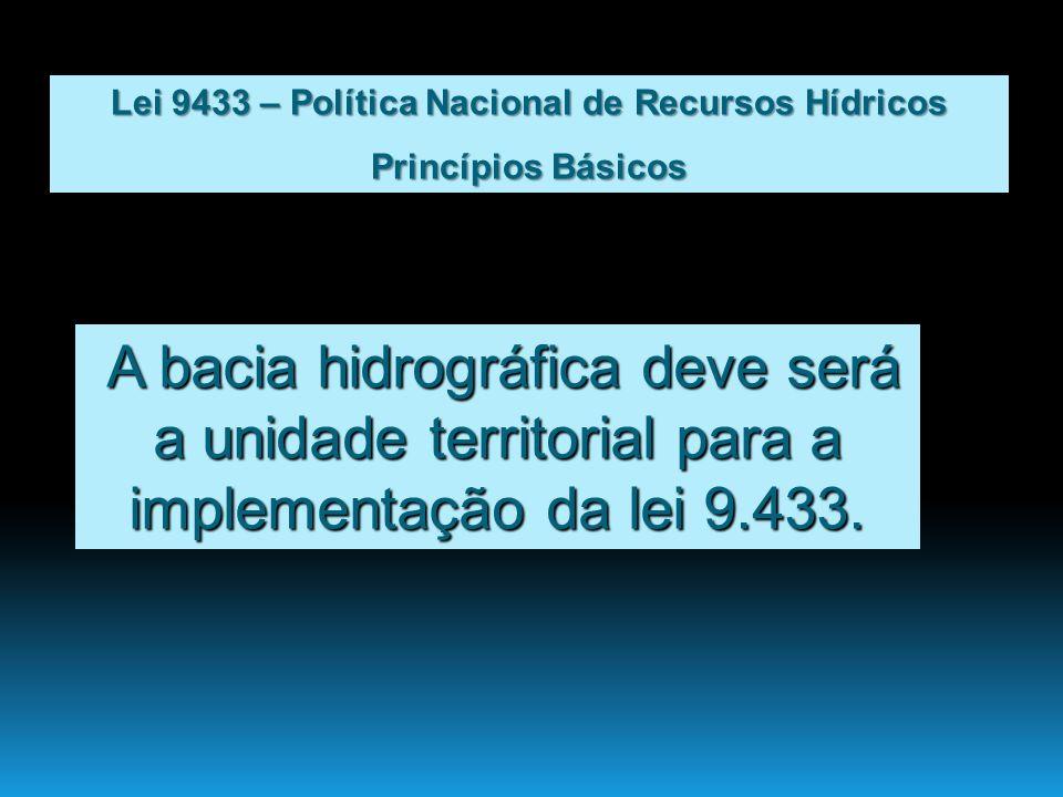 Lei 9433 – Política Nacional de Recursos Hídricos