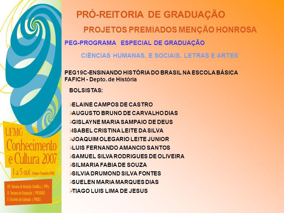 PRÓ-REITORIA DE GRADUAÇÃO