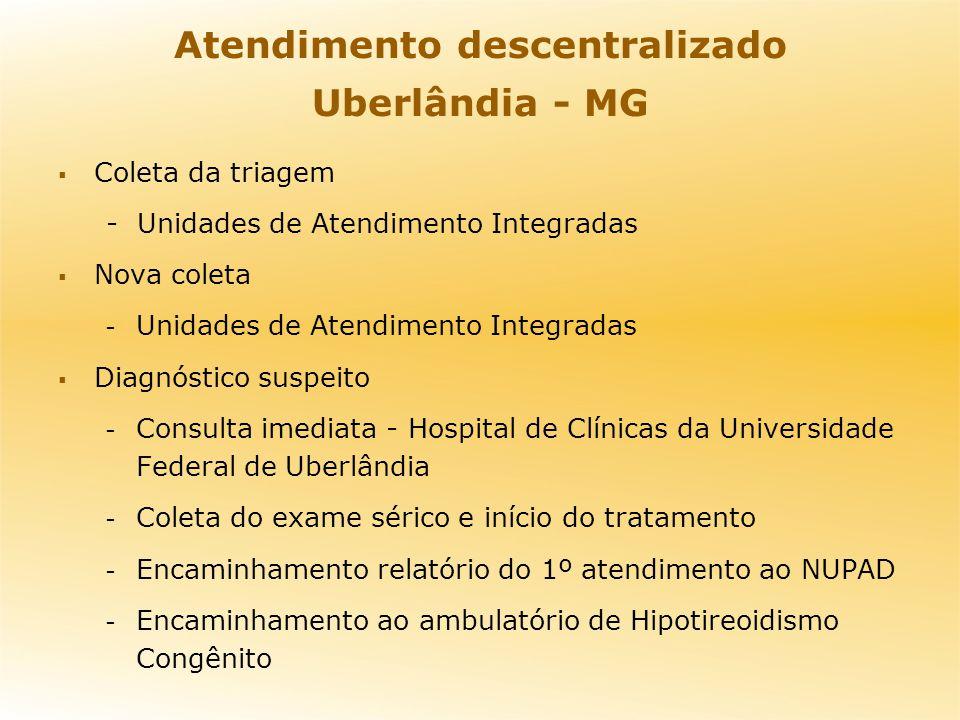 Atendimento descentralizado Uberlândia - MG