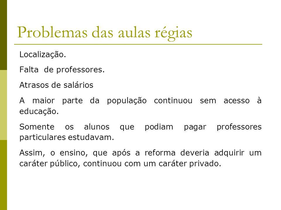 Problemas das aulas régias