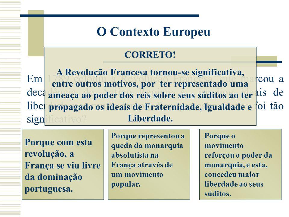 O Contexto Europeu CORRETO!