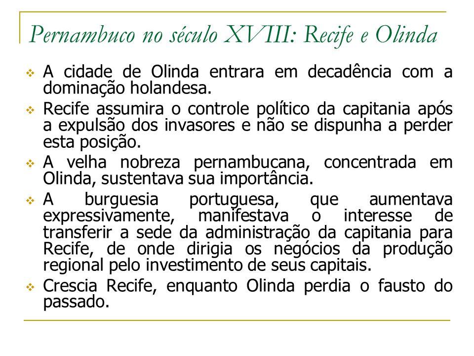 Pernambuco no século XVIII: Recife e Olinda