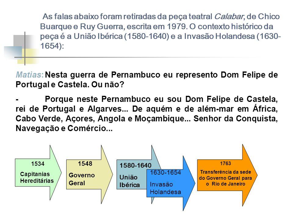 Transferência da sede do Governo Geral para o Rio de Janeiro