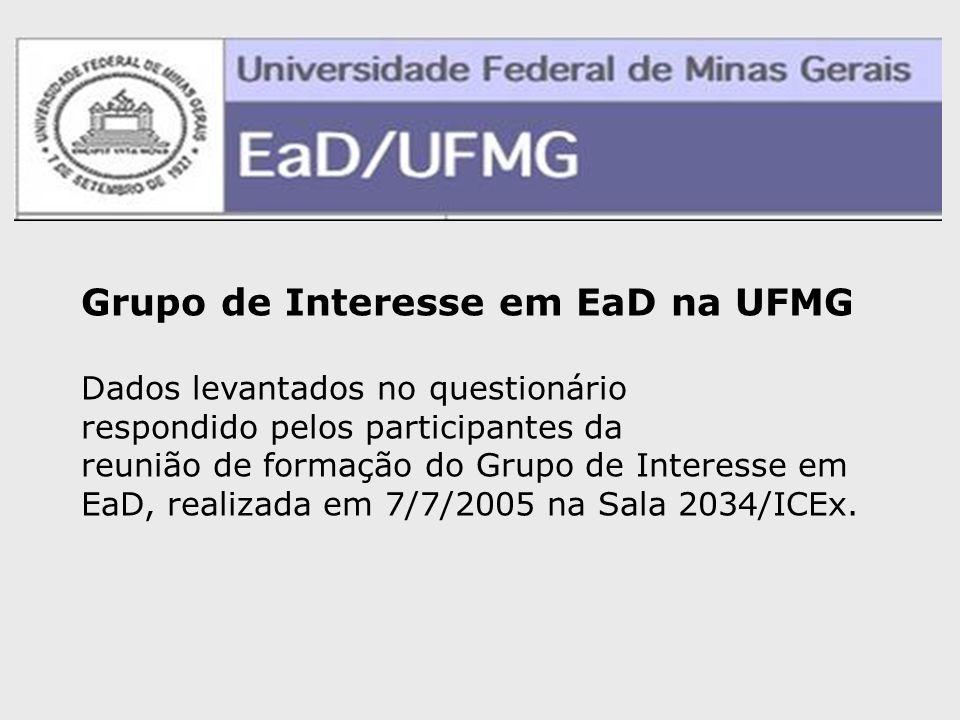 Grupo de Interesse em EaD na UFMG