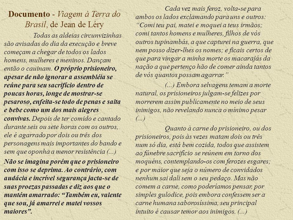 Documento - Viagem à Terra do Brasil, de Jean de Léry