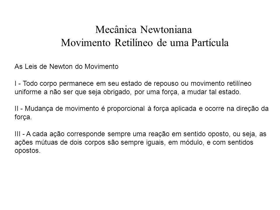 Movimento Retilíneo de uma Partícula
