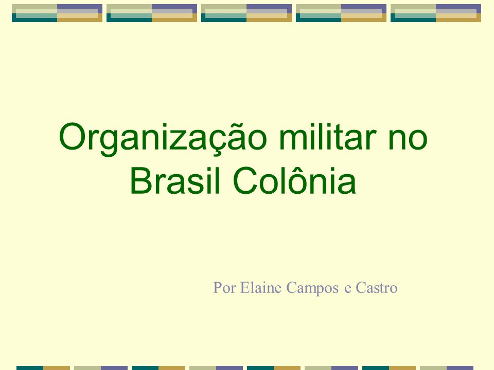 Organização militar no Brasil Colônia