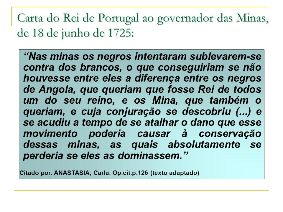 Carta do Rei de Portugal ao governador das Minas, de 18 de junho de 1725: