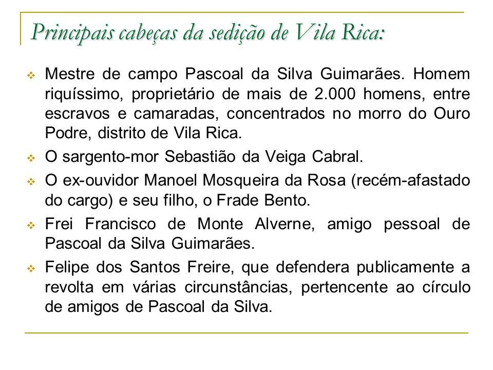 Principais cabeças da sedição de Vila Rica: