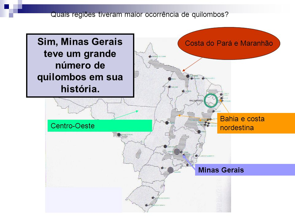 Sim, Minas Gerais teve um grande número de quilombos em sua história.