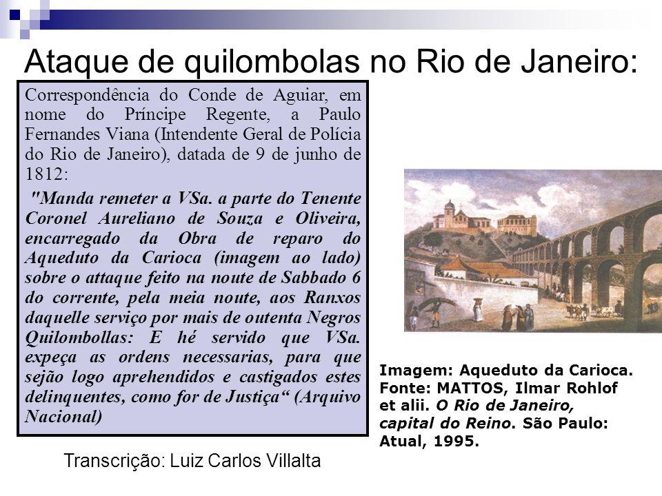 Ataque de quilombolas no Rio de Janeiro: