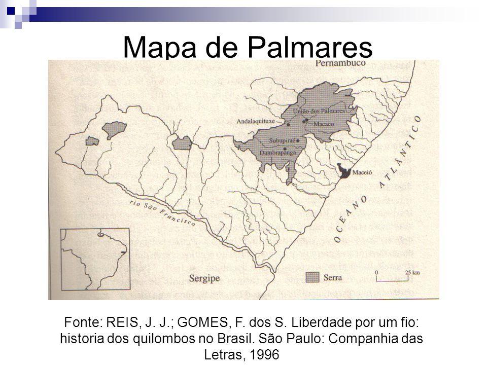 Mapa de Palmares Fonte: REIS, J. J.; GOMES, F. dos S.