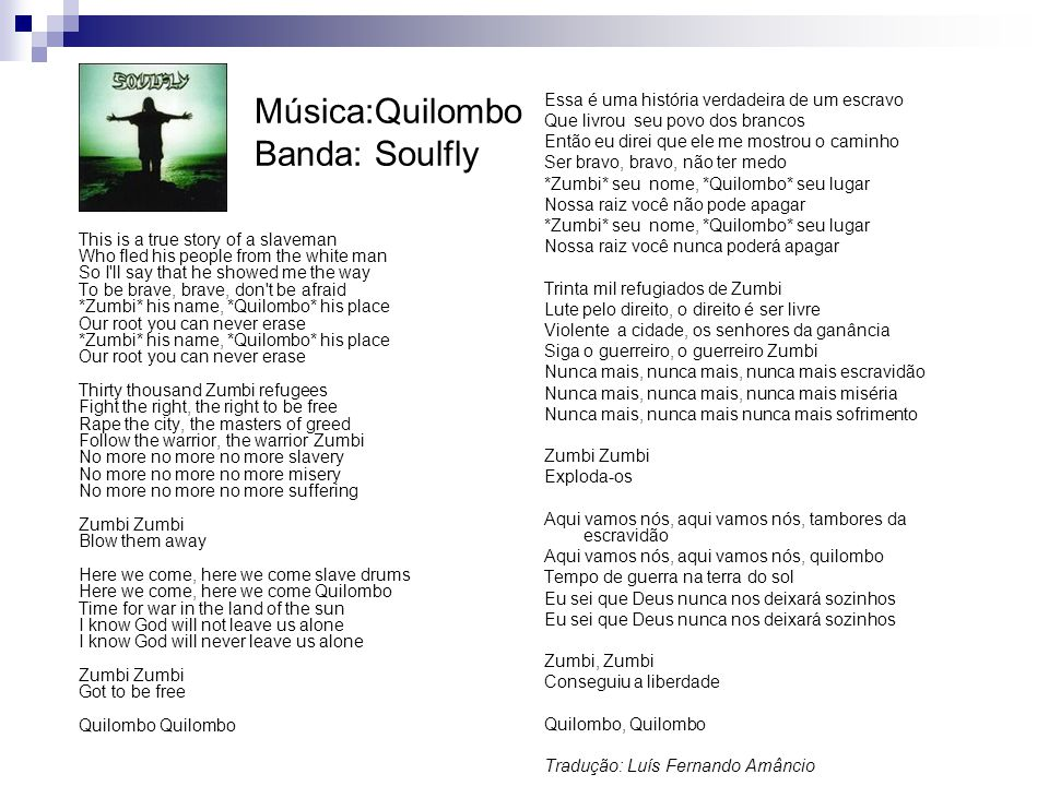 Música:Quilombo Banda: Soulfly