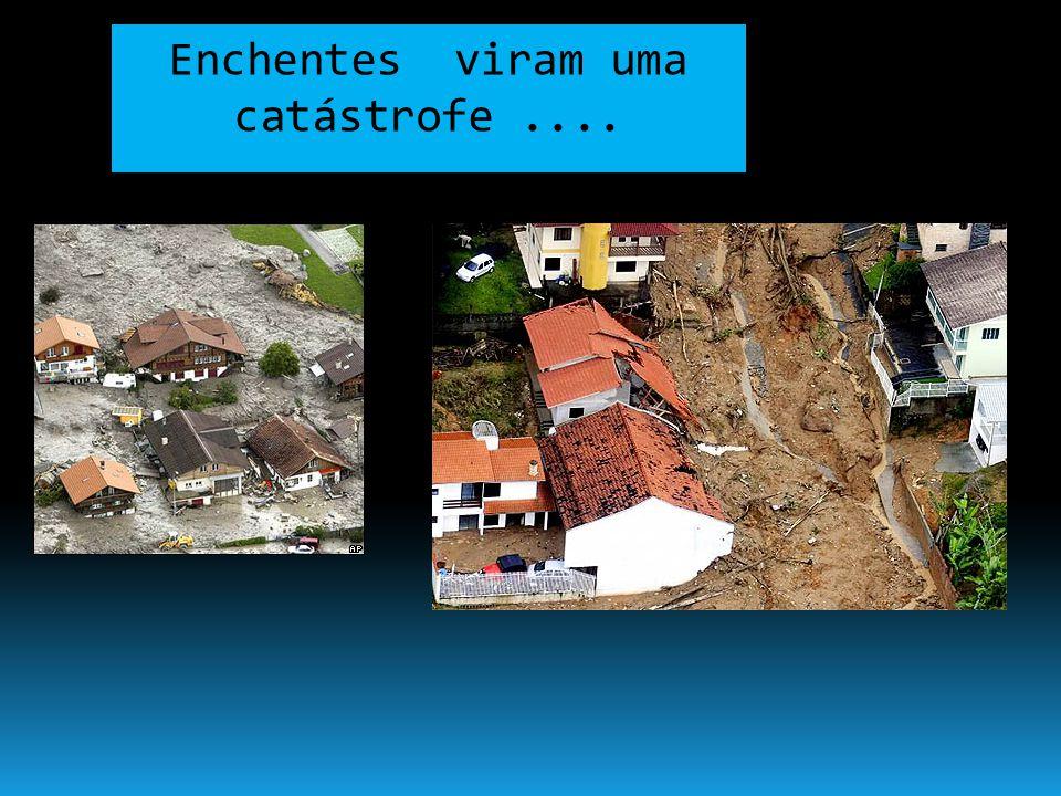 Enchentes viram uma catástrofe ....