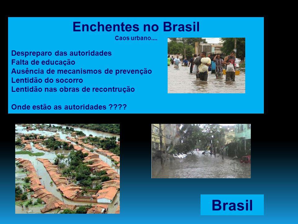 Brasil Enchentes no Brasil Despreparo das autoridades