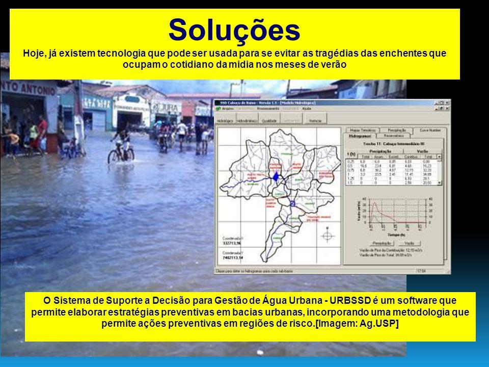 Soluções Hoje, já existem tecnologia que pode ser usada para se evitar as tragédias das enchentes que ocupam o cotidiano da midia nos meses de verão.