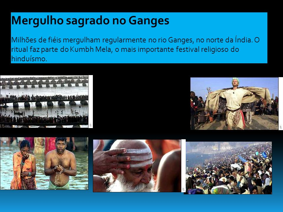 Mergulho sagrado no Ganges