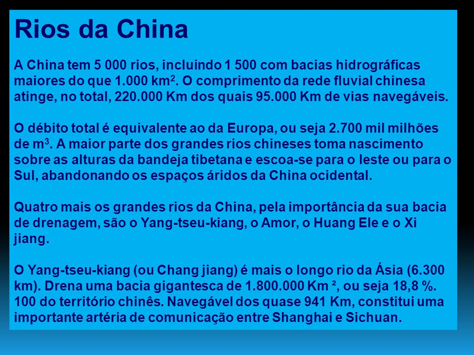Rios da China