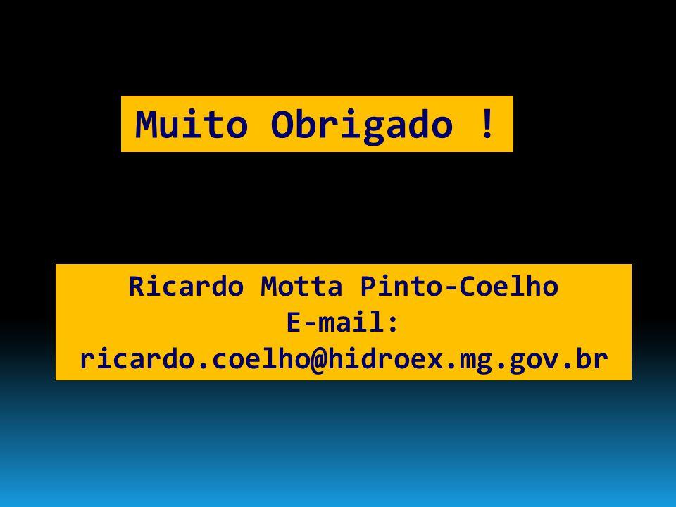 Ricardo Motta Pinto-Coelho E-mail: ricardo.coelho@hidroex.mg.gov.br