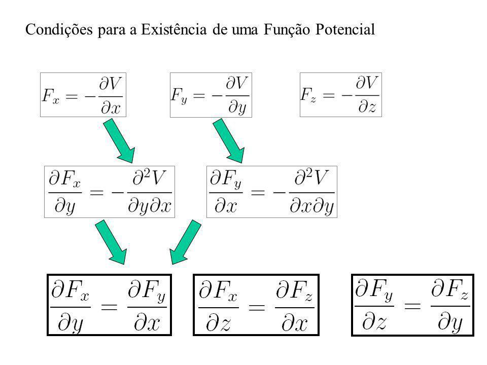 Condições para a Existência de uma Função Potencial