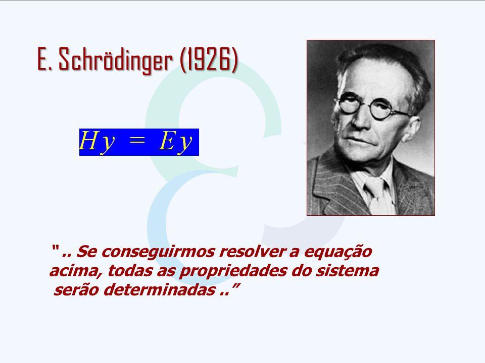 E. Schrödinger (1926) .. Se conseguirmos resolver a equação