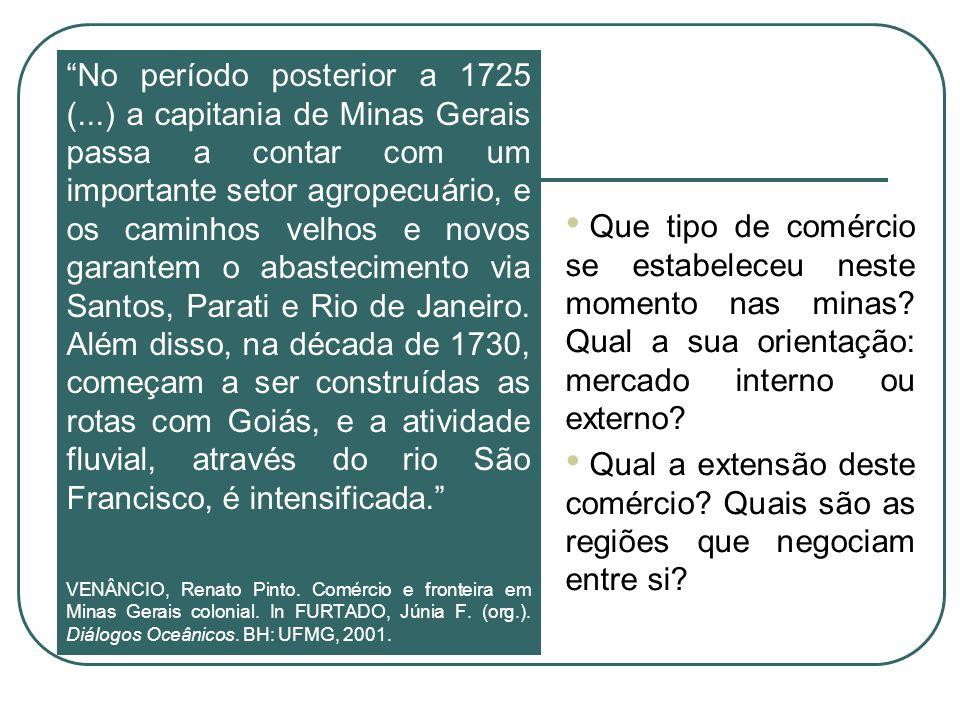 No período posterior a 1725 (