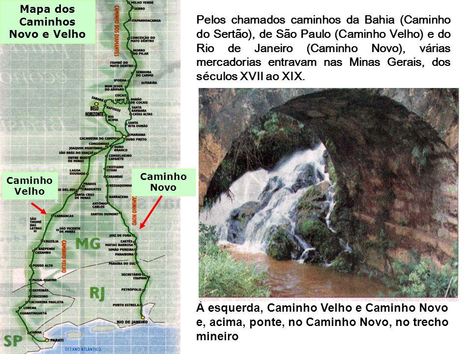 Mapa dos Caminhos Novo e Velho