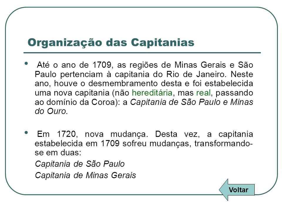 Organização das Capitanias