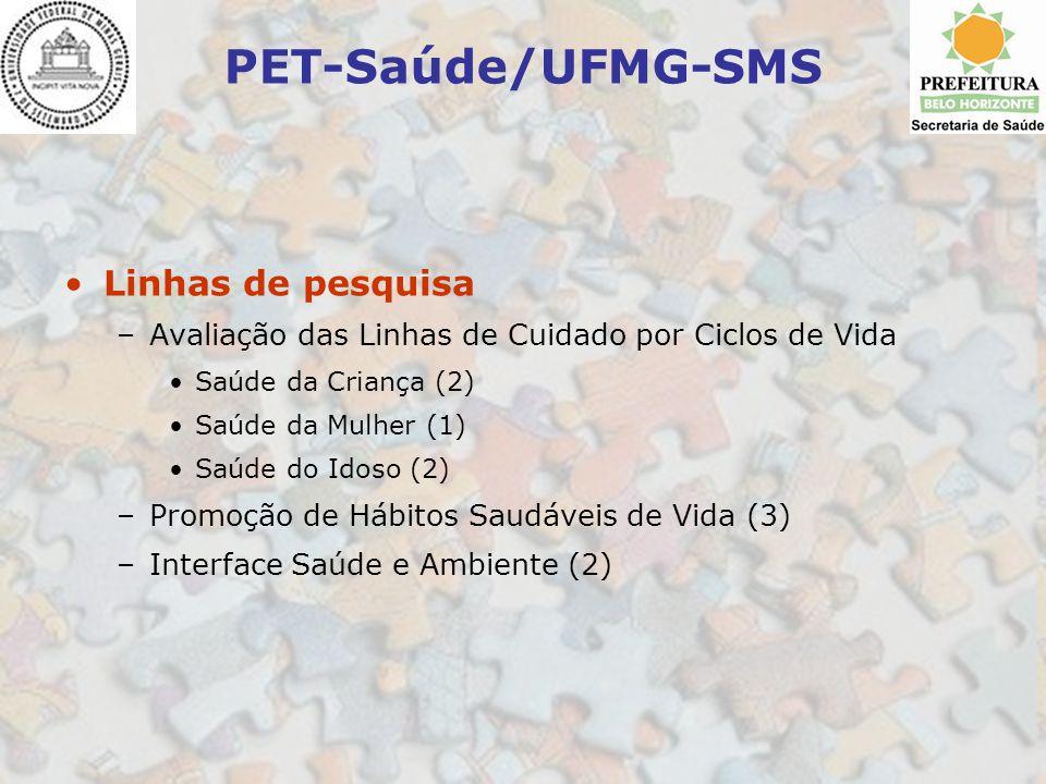 PET-Saúde/UFMG-SMS Linhas de pesquisa
