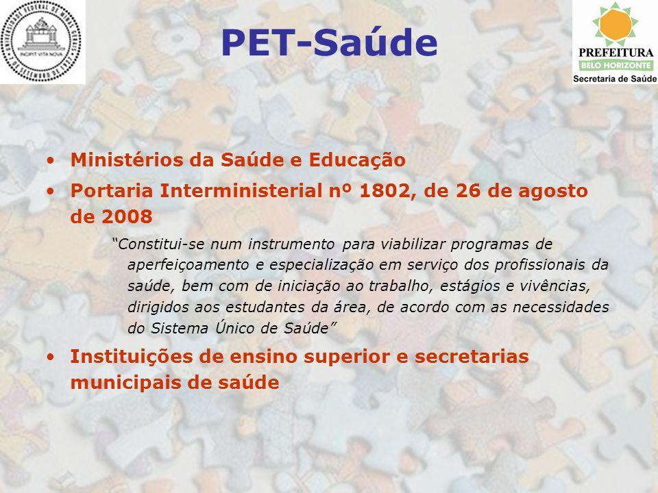 PET-Saúde Ministérios da Saúde e Educação