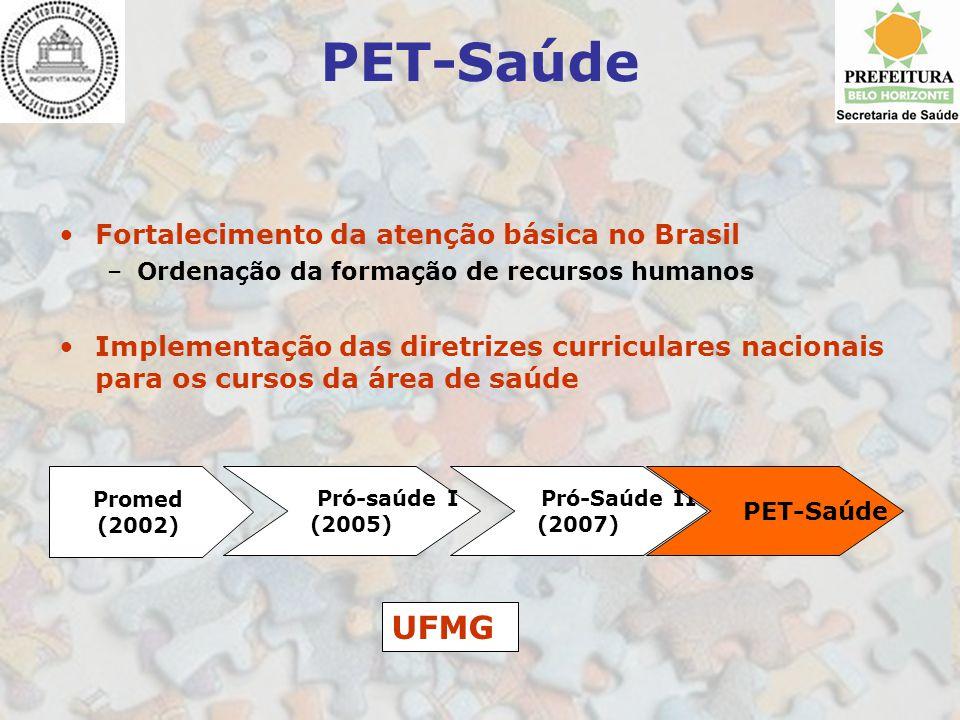 PET-Saúde UFMG Fortalecimento da atenção básica no Brasil