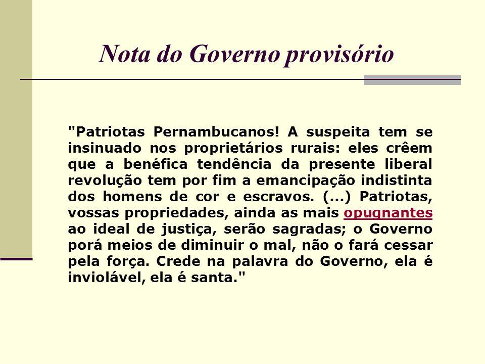 Nota do Governo provisório