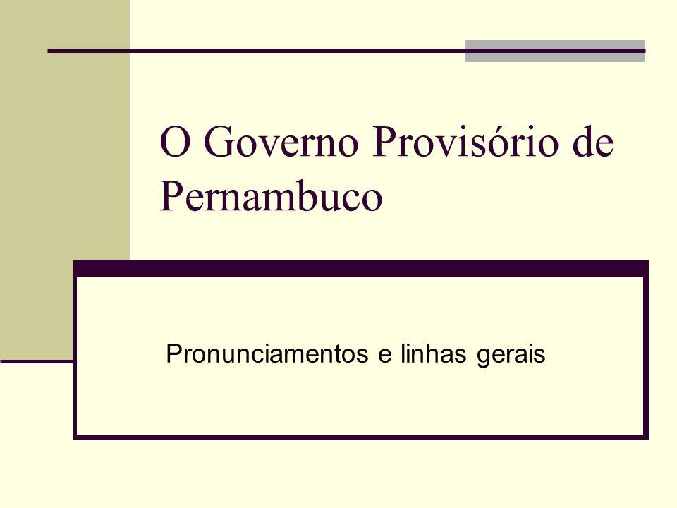 O Governo Provisório de Pernambuco