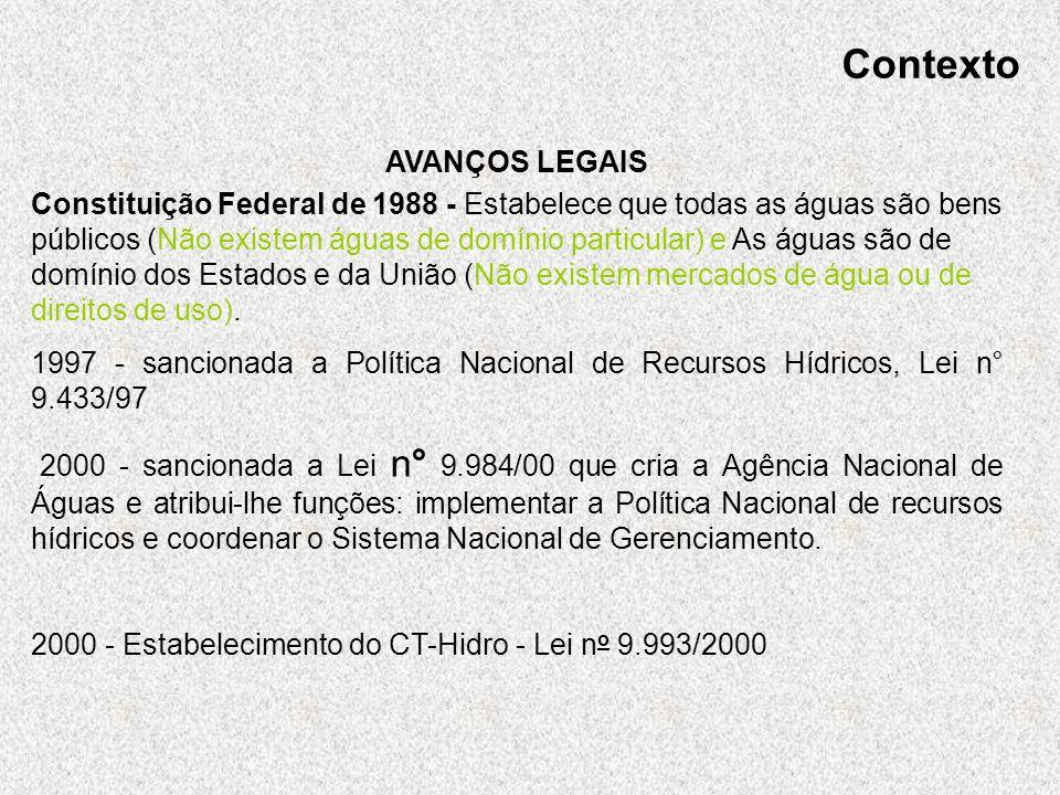 Contexto AVANÇOS LEGAIS