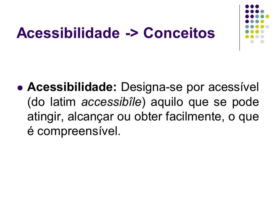 Acessibilidade -> Conceitos