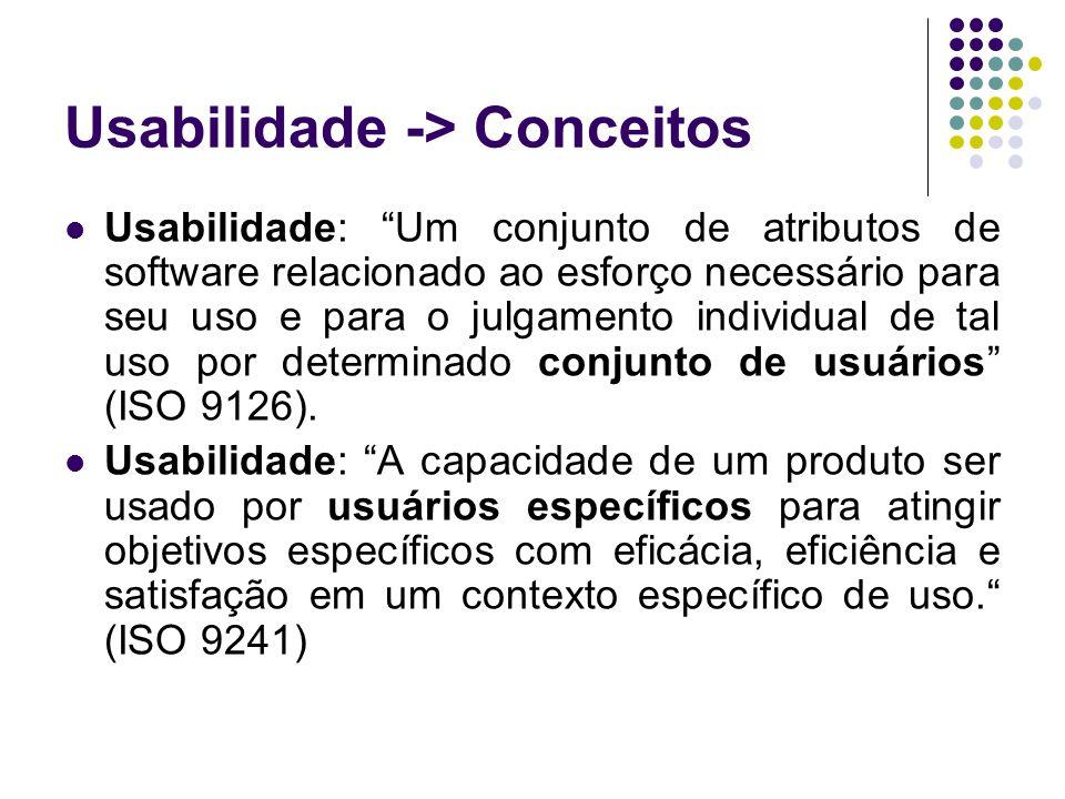 Usabilidade -> Conceitos