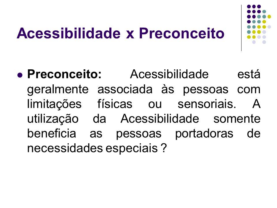 Acessibilidade x Preconceito