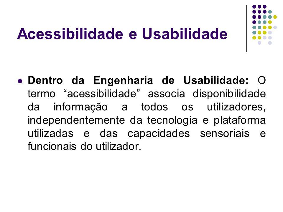 Acessibilidade e Usabilidade