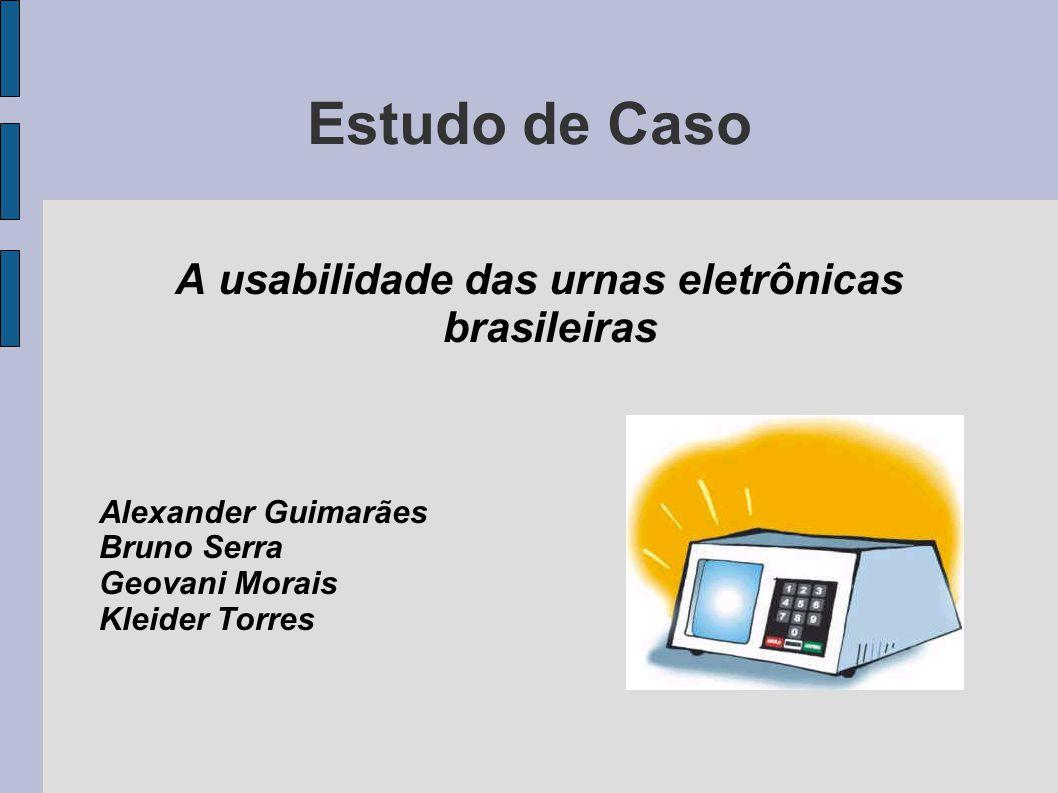 A usabilidade das urnas eletrônicas brasileiras