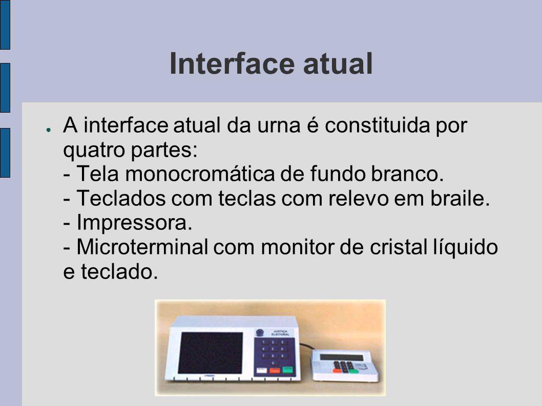 Interface atual